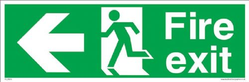 Fire exit Running man Left sign